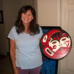 We raise our hands in thanks and prayer for the Hand Drum (Raven steals the Moon) our sister Zona, Donated to us. Contact us for price. SOLD