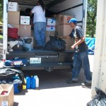 Unloading warmth into containers @ Absentee Shawnee.