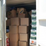 Unloading warmth into containers @ Absentee Shawnee