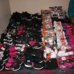 WE RAISE OUR HEARTS AND HANDS IN THANKS AND PRAYER TO YOU ALL Thanks to you all we were able to purchase these shoes socks and undies for the foster kids at Crow Creek. Without you we can do very little.