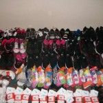 hanks to you all we were able to purchase these shoes socks and undies for the foster kids at Crow Creek.