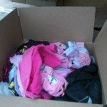 Lots of baby clothes for young moms