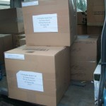 We got to send 7 boxes approximately 650 items of good clothes for the kids in Rose Bud