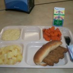 "Recieved a ""nutritious?"" lunch for some the only hot meal today"