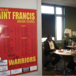 Meeting with St. Francis Indian School principal